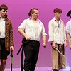 Lunenburg Middle High School had a dress rehearsal for their upcoming Peter Pan on Thursday afternoon at the school. Some of the students  playing the pirates perform during a scene at the dress rehearsal. SENTINEL & ENTERPRISE/JOHN LOVE