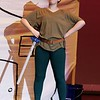 Lunenburg Middle High School had a dress rehearsal for their upcoming Peter Pan on Thursday afternoon at the school. Sophomore Rose Beardmore, playing Peter Pan, performs during a scene at the dress rehearsal. SENTINEL & ENTERPRISE/JOHN LOVE