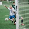 Lunenburg's David Gardner gains possession of the ball before scoring a goal during the game against Oakmont on Thursday afternoon. SENTINEL & ENTERPRISE / Ashley Green