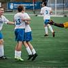 Lunenburg celebrates a goal by David Gardner during the game against Oakmont on Thursday afternoon. SENTINEL & ENTERPRISE / Ashley Green