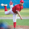 Lunenburg Phillies hosted Auburn in Game 3 of a best-of-three semifinal series at Marshall Park in Lunenburg on Thursday, August 1, 2019. Phillies's pitcher Andrew Mooney delivers a pitch during the game. SENTINEL & ENTERPRISE/JOHN LOVE