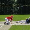3rd baseman Jon Belliard makes a big out at 3rd base<br /> SENTINEL&ENTERPRISE/Scott LaPrade