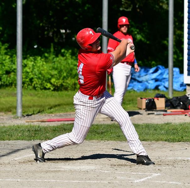 Sean Maki , Lunenburg Phillies Right Fielder Hit.