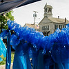 Blue ribbons hung by the Massachusetts State Police Wives on display during the Lunenburg Police Relief Association's first ever Cruise Night held on Wednesday, June 14, 2017. SENTINEL & ENTERPRISE / Ashley Green