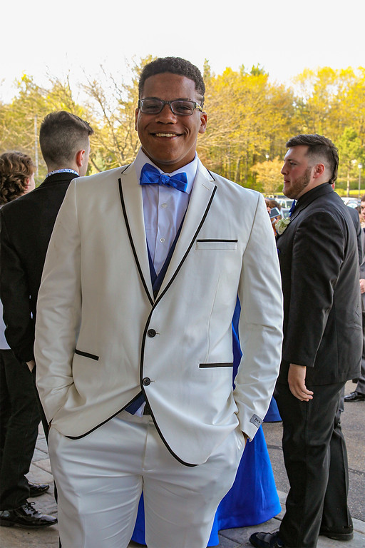 . Lunenburg High School\'s Joe Rivers sets the style trend at the prom Saturday night held at Gardner\'s Colonial Hotel. Courtesy photo