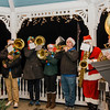 The Lunenburg High Band entertains the crowd on the Lunenburg Town Common during the annual tree lighting ceremony on Thursday evening. SENTINEL & ENTERPRISE / Ashley Green