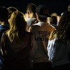 Lunenburg football teammates gather at the Lunenburg High School football field to commemorate 18 year old class of 2016 graduate, A.J. Robbins, who died early Saturday morning in a car accident.  Sentinel & Enterprise photo/Jeff Porter