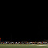 A larger turn out of classmates, faculty, and teammates gather at the Lunenburg High School football field to commemorate 18 year old class of 2016 graduate, A.J. Robbins, who died early Saturday morning in a car accident.  Sentinel & Enterprise photo/Jeff Porter