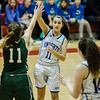 Lunenburg's Kylie Hill in action during the Division 3 Central Mass. final against Grafton at Worcester Polytechnic Institute on Saturday, March 11, 2017. Lunenburg would defeat Grafton 55-54 in overtime. SENTINEL & ENTERPRISE / Ashley Green