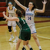 Lunenburg's Sierra Heppler in action during the Division 3 Central Mass. final against Grafton at Worcester Polytechnic Institute on Saturday, March 11, 2017. Lunenburg would defeat Grafton 55-54 in overtime. SENTINEL & ENTERPRISE / Ashley Green