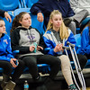 Lunenburg fans cheer on the team during the Central Mass. D3 semifinal game against Sutton at Worcester State University on Thursday, March 9, 2017. SENTINEL & ENTERPRISE / Ashley Green