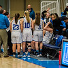 Lunenburg huddles up during the Central Mass. D3 semifinal game against Sutton at Worcester State University on Thursday, March 9, 2017. SENTINEL & ENTERPRISE / Ashley Green
