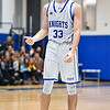 (01/30/18 LUNENBURG MA) Lunenburg senior captain Connor Palma shows disappointed as they end at the half trailing behind Littleton in Tuesday night's boys varsity basketball game at home.   SENTINEL & ENTERPRISE JEFF PORTER