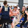 (01/30/18 LUNENBURG MA) Lunenburg senior Troy Howe rushes the net in Tuesday night's boys varsity basketball game at home against Littleton.  SENTINEL & ENTERPRISE JEFF PORTER