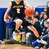 (01/30/18 LUNENBURG MA) Tigers junior PJ Barbella saves the ball from going out of bounds late in the 2nd quarter in Tuesday night's boys varsity basketball game at Lunenburg.  SENTINEL & ENTERPRISE JEFF PORTER