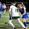 Lun Gabrielle Alleva moves the ball with Oakmonts Rachael Lemay on the defense