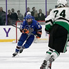 Lunenburg/Ayer-Shirley Blue Knights Hockey played Greenfield High School at the College of the Holy Cross Saturday, March 7, 2020. LAS's #2 Mathew Albert. SENTINEL & ENTERPRISE/JOHN LOVE