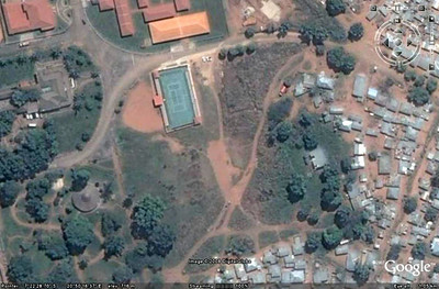 Foto satélite ( Google) do antigo campo de golf.