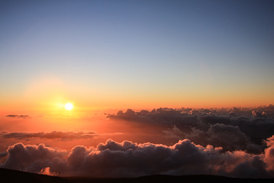 haleakala at sunset