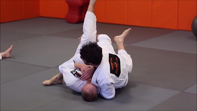 Sweep Grabbing the Collar and Ending in X-Choke