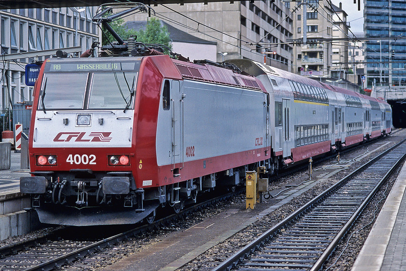 CFL 4002 waits to depart for Wasserbillig from Luxembourg