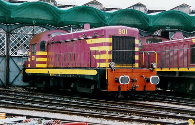801 at Luxembourg Depot on 31st October 1998