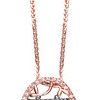 Auspicious Collection<br /> 18K Rose & Black Gold with Brown & White Diamond Necklace<br /> HK$12,000