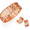 Auspicious Collection<br /> 18K Rose Gold Diamond Bangle<br /> HK$36,600<br /> <br /> 18K Rose Gold Diamond Earrings<br /> HK$11,700