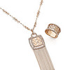 Auspicious Collection<br /> 18K Rose Gold Diamond Necklace<br /> HK$22,000<br /> <br /> 18K Rose Gold Diamond Ring<br /> HK$15,800