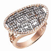 Auspicious Collection<br /> 18K Rose & Black Gold with Brown & White Diamond Ring<br /> HK$15,000