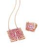 Auspicious Collection<br /> 18K Multi-coloured Gold Pink Sapphire & Diamond Pendant<br /> HK$23,500; <br /> <br /> 18K Multi-coloured Gold Pink Sapphire & Diamond Ring<br /> HK$12,300