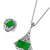 Jade Fever Collection<br /> 18K Black Gold Jade & Diamond Fan Shaped Pendant<br /> HK$62,470<br /> <br /> 18K Black Gold Jade & Diamond Fan Shaped Ring<br /> HK$27,970
