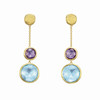 Jaipur Collection 18K Yellow Gold Semi-precious Stone Earrings<br /> HK$7,250