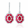 EMPHASIS JEWELLERY_Gem Obsession_18K白金紅寶石襯鑽石耳環_約價HK$27,000<br /> <br /> EMPHASIS JEWELLERY_Gem Obsession_Flower motif earrings set with rubies and diamonds in 18K white gold_Approx. HK$27,000