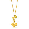 EMPHASIS JEWELLERY_Auspicious Collection_Fortune lock with butterfly motif pendant in 24K Gold_Approx. HK$1,370