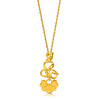 EMPHASIS JEWELLERY_Auspicious Collection_足金藤蔓如意吊墜_約價HK$2,220<br /> <br /> EMPHASIS JEWELLERY_Auspicious Collection_Fortune lock with vine motif pendant in 24K Gold_Approx. HK$2,220