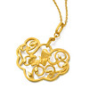 EMPHASIS JEWELLERY_Auspicious Collection_足金蝴蝶藤蔓如意吊墜(大)_約價HK$5,100<br /> <br /> EMPHASIS JEWELLERY_Auspicious Collection_Fortune lock with butterfly and vine motif pendant in 24K Gold (Large)_Approx. HK$5,100