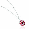 EMPHASIS JEWELLERY_Gem Obsession_18K白金紅寶石襯鑽石吊墜_約價HK$24,000<br /> <br /> EMPHASIS JEWELLERY_Gem Obsession_Flower motif pendant set with rubies and diamonds in 18K white gold_Approx. HK$24,000