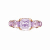 Rainbow Connection<br /> 18K Rose Gold Amethyst Ring<br /> HK$7,500
