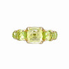 Rainbow Connection<br /> 18K Yellow Gold Olivine & Citrine Ring<br /> HK$7,500