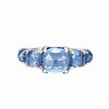 Rainbow Connection<br /> 18K White Gold Blue Topaz Ring<br /> HK$7,500