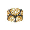 EMPHASIS JEWELLERY_Jungle Treasure Collection_Leopard motif ring set with yellow and black diamonds in 18K black and yellow gold_Approx. HK$17,500