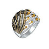 EMPHASIS JEWELLERY_Jungle Treasure Collection_Peacock motif ring set with diamonds, brown and yellow diamonds in 18K multi-coloured gold_Approx. HK$17,500