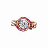 Solitaire Plus Collection<br /> Hearts & Arrows Diamond Ring Set With Diamonds, Pink Sapphires & Rubies in 18K Rose Gold<br /> Approx HK$12,200 to HK$101,000 (centerpiece 0.3ct - 1ct)