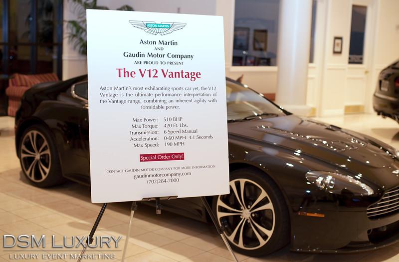 DSM Luxury Lauch Event for Aston Martin V12 Vantage at Gaudin Motors in Las Vegas