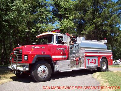 FEARNOTS FIRE CO. TANKER 43 1998 MACK/SEMO TANKER