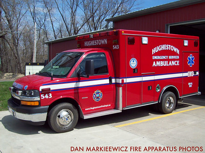 HUGHESTOWN HOSE CO. EMS 143 2008 CHEVY/ROAD RESCUE BLS AMBULANCE