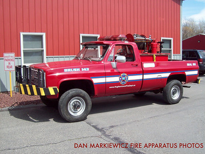 HUGHESTOWN HOSE CO. FORMER BRUSH 143 1986 CHEVY/HHC BRUSH UNIT