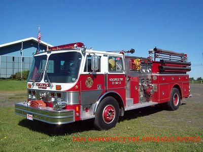NESCOPECK TWP. VOLUNTEER FIRE CO. ENGINE 161-2 1984 HAHN PUMPER