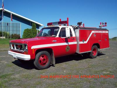 NESCOPECK TWP. VOLUNTEER FIRE CO. UTILITY 161 1974 GMC/SAULSBURY MINI PUMPER